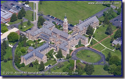 Aerial view of Pontifical College Josephinum, near Columbus, Ohio