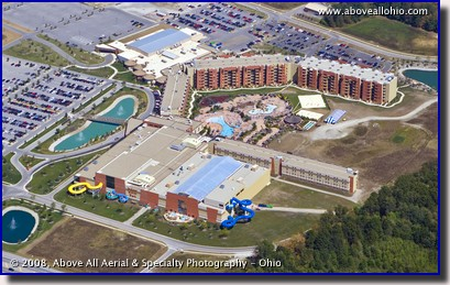Aerial photo of Kalahari Resort and waterpark, Sandusky, Ohio