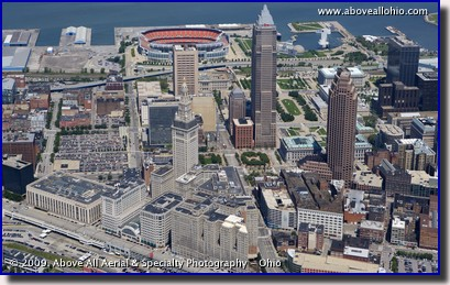 Aerial photo of downtown Cleveland, Ohio