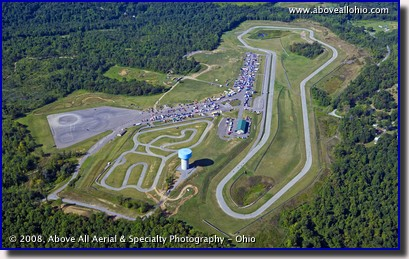 Aerial photo of the BeaveRun race track in Pennsylvania