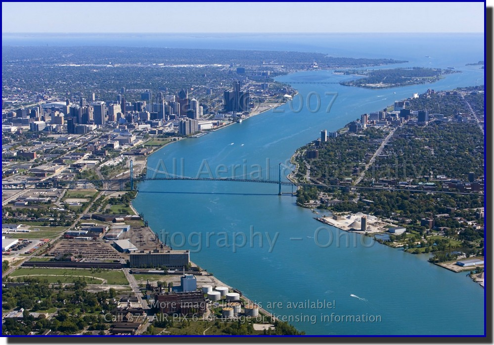 Windsor (ON) Canada  city images : detroit mi windsor on canada aerial