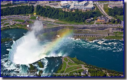 Aerial photo of the Horseshoe Falls (Canadian), Niagara Falls, New York