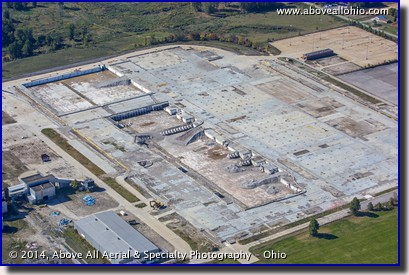 Aerial view of the site of the former GM stamping plant in Ontario, OH, near Mansfield.