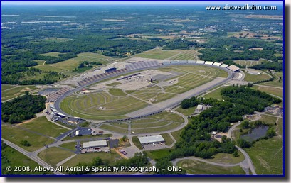 Aerial photo of Michigan International Speedway (MIS)