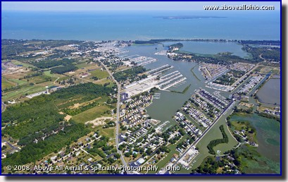 Aerial photo of Catawba and Kelleys Island near Port Clinton, Ohio