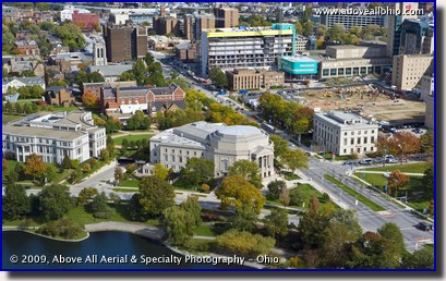 Aerial photo - Severance Hall in University Circle, Ohio - home of the Cleveland Orchestra