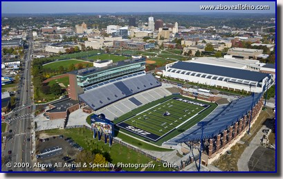 Aerial photo of the University of Akron's (Ohio) new football stadium